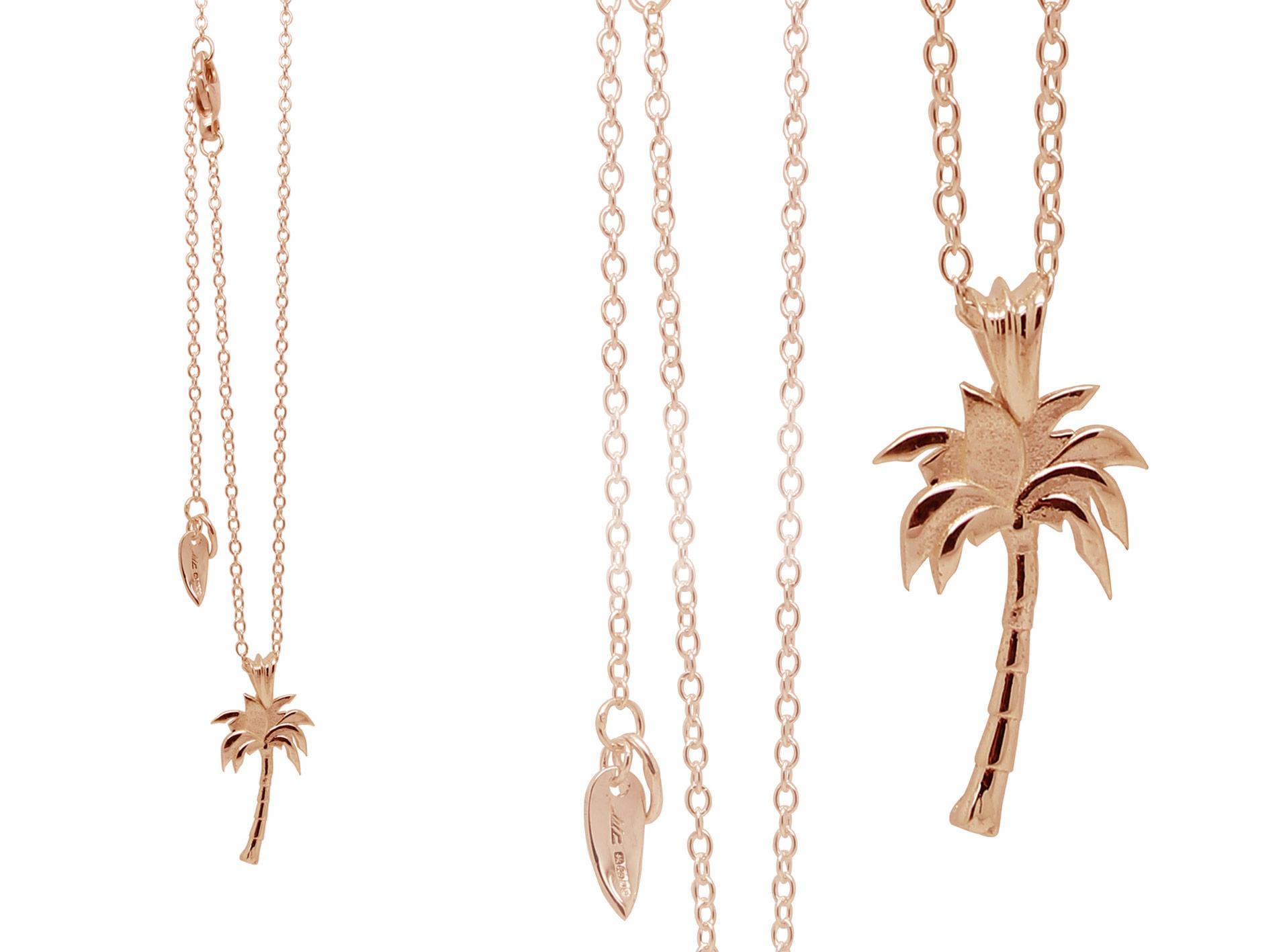 e9fc451420c Palm Tree Necklace – Rose Gold Vermeil   William Cheshire