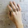 letter rings gold