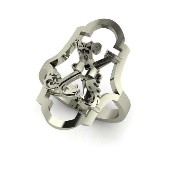 X letter ring
